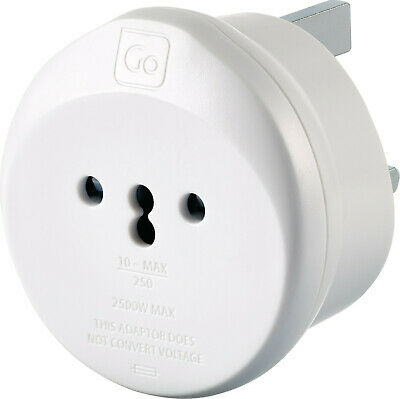 Go Travel Italian / Swiss To UK Compact Earthed Adaptor (Adapter Ref 548) • 9.99£