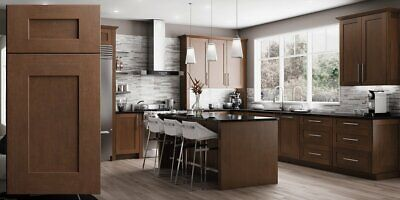 $5299.99 • Buy Fully Assembled All Wood 10X10 Shaker Kitchen Cabinets In Elegant Cinnamon Brown