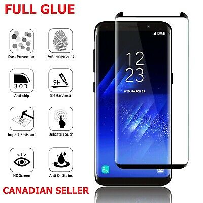 $ CDN6.49 • Buy Full Cover Tempered Glass Screen Protector For Samsung Galaxy S8 S9 Plus Note 8