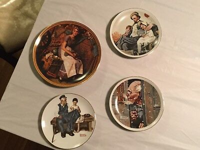 $ CDN12.98 • Buy Lot Of 4 Norman Rockwell (w/1 Knowles Collectible) Plates **mint*estate*con*****