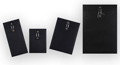 Strong Black String & Washer Document Storage Bottom&Tie Envelopes All Sizes • 5.30£