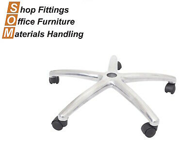 AU62 • Buy Chrome Base And Wheels For Office Gas Lift Operator Chair