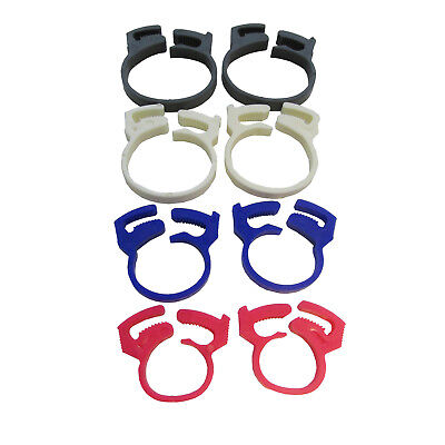 £2.19 • Buy 8 X PLASTIC TIDY CABLE WIRE CLIPS CLAMPS Keep Several Wires Together