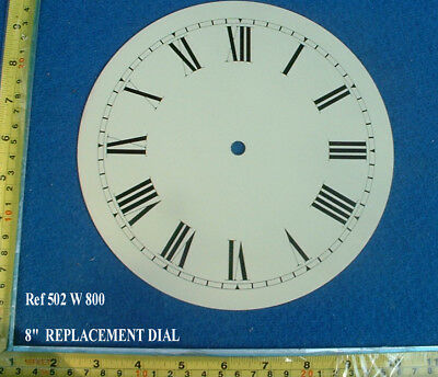 £17.99 • Buy Replacement 8 Inch Dial Face For Fusee Dial / Smaller American Wall Clock
