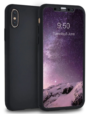 AU9.99 • Buy IPhone X Case With FREE Screen Protector - Black Slim Cover Cases For Apple