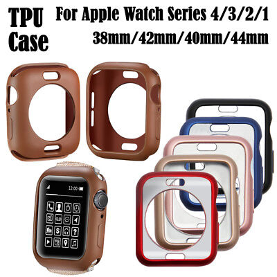 $ CDN8.40 • Buy For Apple Watch Series 4/3/2/1 Case TPU Protector Ultra-thin Cover Holder Bumper