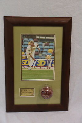 AU279.95 • Buy Framed Brett Lee Photograph And Signed Cricket Ball