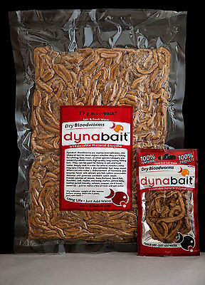 AU90 • Buy Dynabait Blood Worms 3x1Kg  (live Weight) Fishing Bait, 90 Small Satchels!
