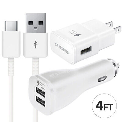 $ CDN11.29 • Buy OEM Samsung Galaxy S9 S8 Note 8 9 Fast Charging Dual USB Car&Wall Charger +Cable