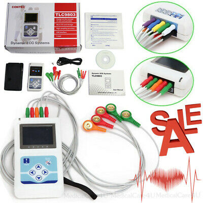 £230 • Buy Handheld 24 Hours Dynamic ECG Holter 3 Channel EKG Recorder 12 Leads Software