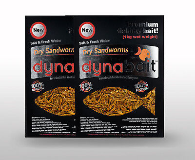 AU80 • Buy Dynabait Sand Worms 1Kg X 2 (2kg Wet Weight, Equals 60 Small Dynabait Satchels)