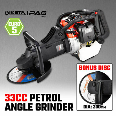 AU263.20 • Buy IKETA Angle Grinder Petrol 33cc 9  230mm Cutting Disc Metal Grinding Cut Tool