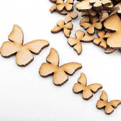 Wooden MDF Shapes Butterfly Scrapbook Embellishments Card Decoration • 1.49£