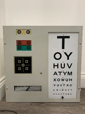 Visual Acuity Chart Eye Opticians UK Optometry Prop • 120£