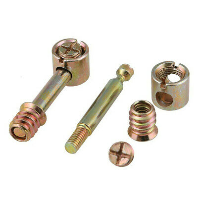 $2.45 • Buy M6 Connector Side Fittings Bolt Nuts Furniture Cam Locking Screws For Bed Cot