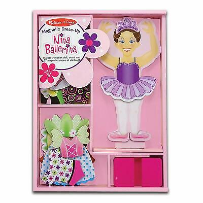 Nina Ballerina Magnetic Dress Up Wooden Doll Clothing Melissa & Doug  • 12.50£