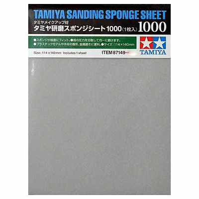 TAMIYA 87149 Sanding Sponge Sheet 1000 - Tools / Accessories • 4.85£