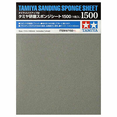 TAMIYA 87150 Sanding Sponge Sheet 1500 - Tools / Accessories • 4.85£