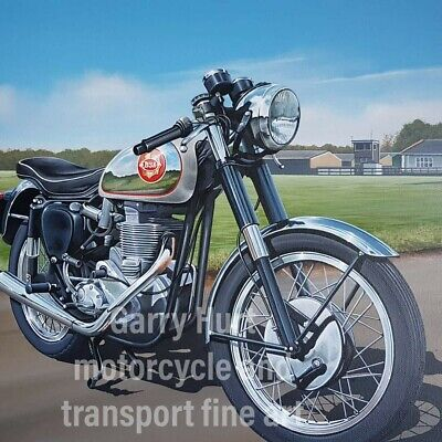 BSA Gold Star Motorcycle A3 Size Limited Edition Print • 22£
