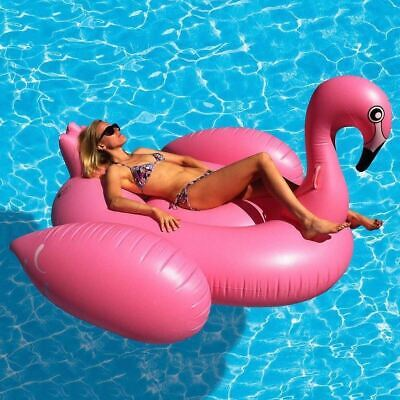 £16.49 • Buy Giant Inflatable Flamingo Fun Water Float Raft Ride On Pool Lounger Beach Toy