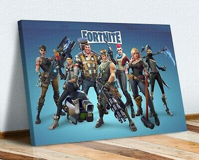 FORTNITE Crew CANVAS WALL ART PICTURE 30MM DEEP FRAMED PRINT • 12.99£