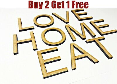 £2.90 • Buy Wooden Letters Large Small Arial Font 2cm-40cm 4mm Thick MDF Craft Extra Large