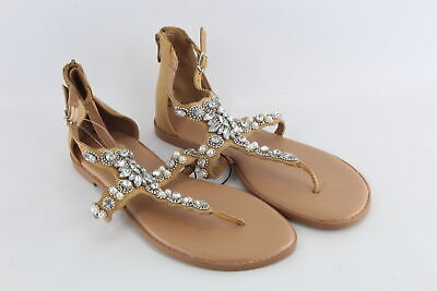 2aa74e00f90a Torrid Women s Faux Diamond   Pearl Studded Flip Flop Sandals Shoes Size  11W NEW • 14.99