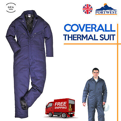 Castle 377 navy blue thermal quilted lined padded boilersuit coverall S-XXL