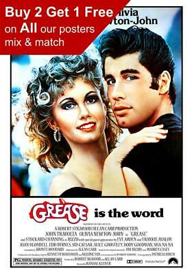 £0.99 • Buy Grease 1978  Movie Poster A5 A4 A3 A2 A1