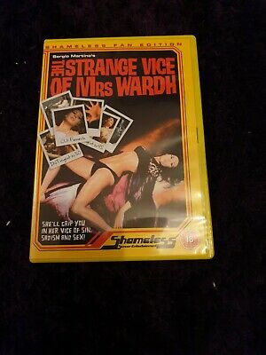 Strange Vice Of Mrs Wardh - Shameless DVD  Sergio Martino • 14.99£