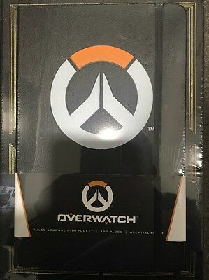 AU17 • Buy OVERWATCH Ruled Journal With Pocket/192 Pages
