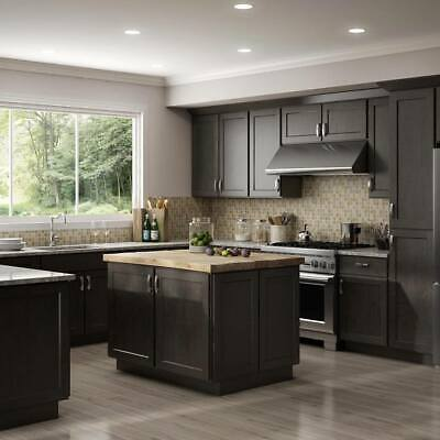 $4399.99 • Buy Fully Assembled - All Wood 10X10 Luxor Smokey Grey Shaker Kitchen Cabinets Gray