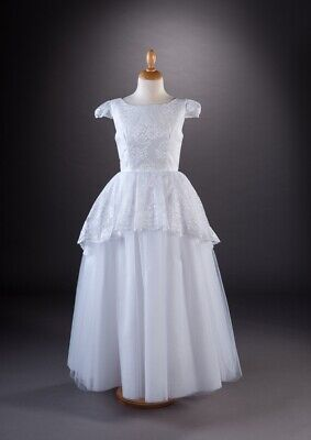 £85 • Buy GirlsWhite First Holy Communion Dress Age 8-9 Years + Veil + Bag