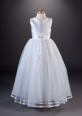 GirlsWhite First Holy Communion Dress Age 8-9 Years + Veil + Bag • 85£
