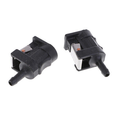 AU12.75 • Buy 2 X Fuel Line Tank Connector For Yamaha Outboard Motor Boat Engine 6mm