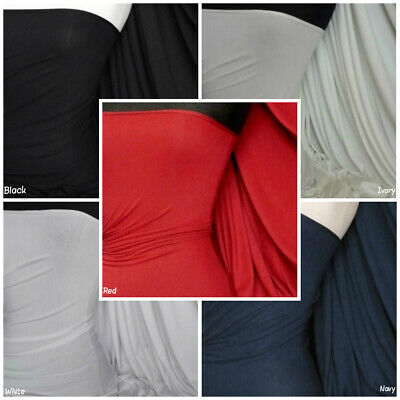 Heavy Viscose Cotton Fabric Stretch Lycra Material RM896 Free P&P • 7£