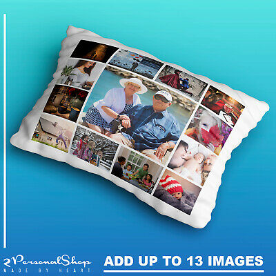 £8.99 • Buy Personalised Photo Pillowcase Cushion Pillow Case Cover Custom Gift 13 Pics
