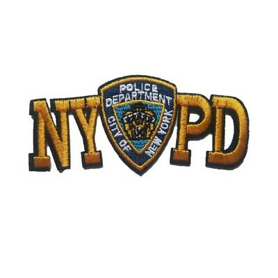 £2.59 • Buy City Of New York Police Department Iron On Patch Sew On Transfer NYPD NY Police