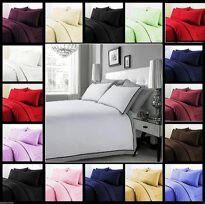 Duvet Cover Set Egyptian Cotton 1000 Thread Count Euro Double Ikea All Colors • 56.99£