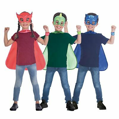 Official PJ Masks Cape Mask Superhero Set 4-8 Years Book Fancy Dress Costume • 7.17£