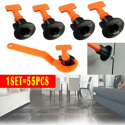 55pcs Floor Wall Tile Leveler Tools Construction Reusable Tile Levelling System • 7.75£