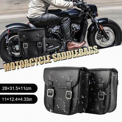 $57.99 • Buy Motorcycle PU Leather Saddle Bags For For Suzuki Boulevard M109R M50 M95 C109 US