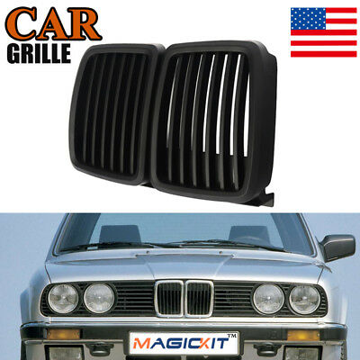 $26.99 • Buy For 82-94 BMW 3 Series E30 Cabrio Coupe M3 Style Kidney Grille Grill Matte Black