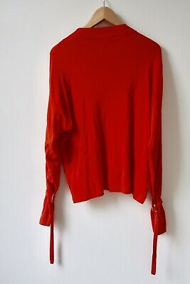 Red Asos Sweater Knit Jumper Size 8 Slouchy • 8£