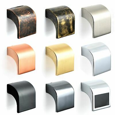 Square Black Brass Antique Chrome Cabinet Drawer Cupboard Kitchen Knobs Handles • 2.53£