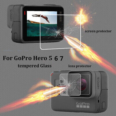 $ CDN1.14 • Buy Tempered Glass Screen Protector Protective Film For GoPro 5 6 7 Action Camera