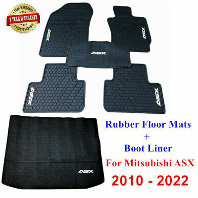 AU109.25 • Buy Rubber Waterproof Floor Mats & Boot Liner Tailored For Mitsubishi ASX 2010- 2021
