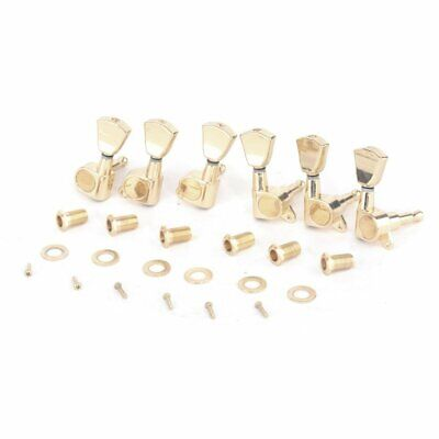 $ CDN14.25 • Buy Gold Guitar Parts Tuning Pegs Keys Tuners Machine Heads Electric Acoustic 3R3L