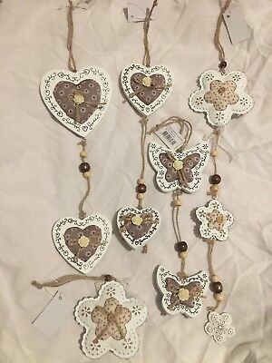 £4.50 • Buy Hanging Decorations- Wedding Decoration, Mothers Day, Valentines Day Gift Rustic