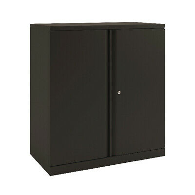 Bisley 2 Door 1000mm Cupboard Empty Black KF78711 • 291.24£